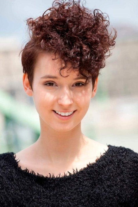 Top 10 Asymmetrical Curly Pixie hair  in 2019