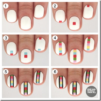 A Rainbow Ladder Nail Art Tutorial