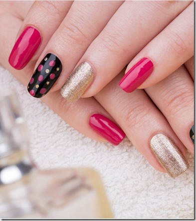 How To Do Tri Color Cliffs Nail Art at home 1