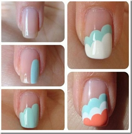 How To Do Tri Color Cliffs Nail Art at home