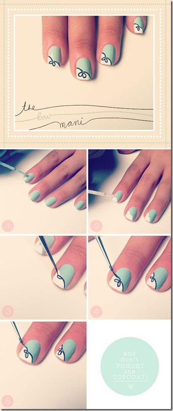 How to do Bow Nail Art Tutorial at home-1