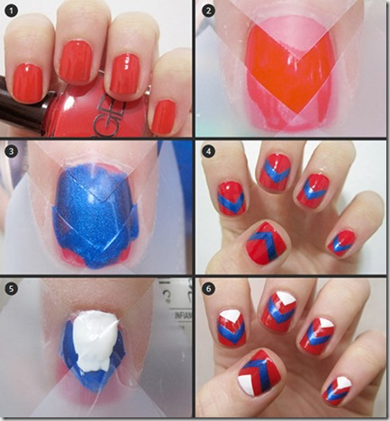 How to do Chevron Nail Art at home