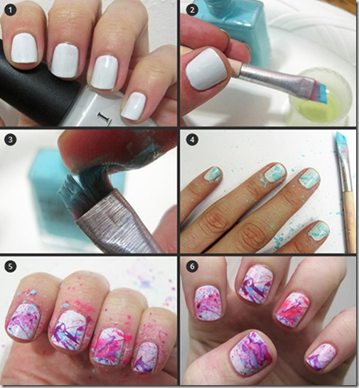 How to do Splatter Nail Art at home