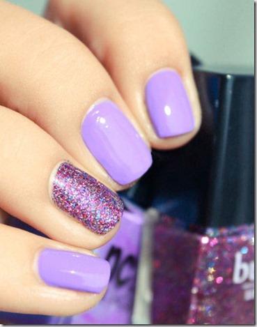 Lavender Love Glitter Nails