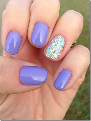 diypurple and silver summer glitter nails  makes you