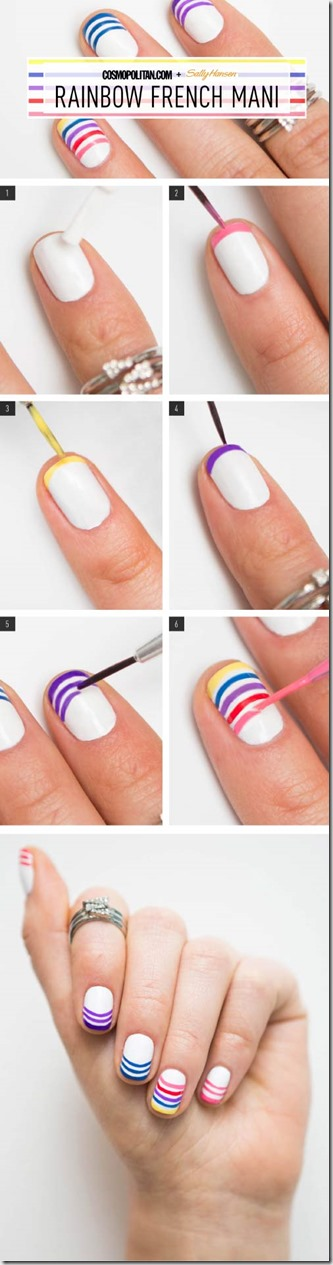 Rainbow French Mani Tutorial