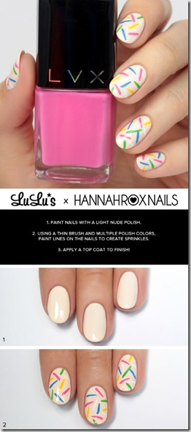 Rainbow Sprinkles Nail Art Tutorial