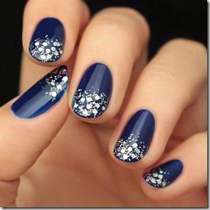 Royal Blue Jewel-Toned Glitter Nails