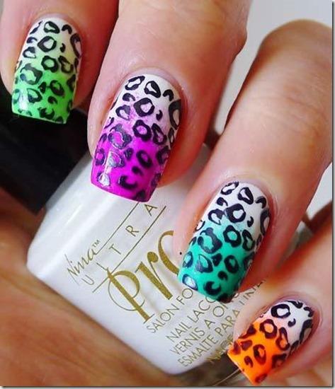 1. Leopard print nails