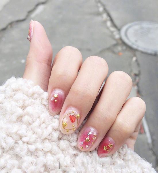 Star Moon Style Nail Art