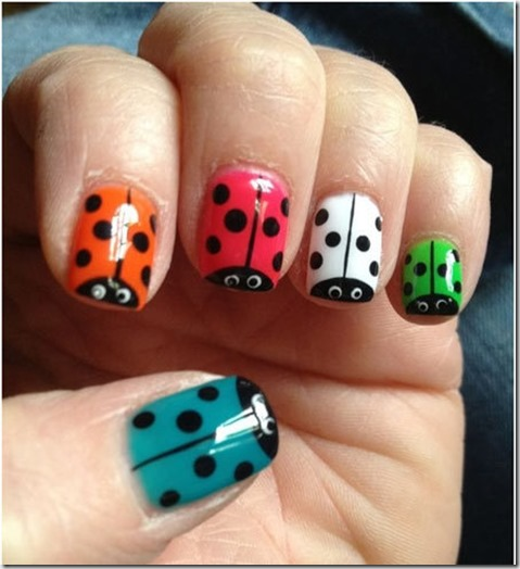 8.Colourful lady bugs