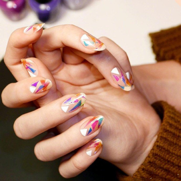 9 individual geometric nail art patterns, which one do you like?